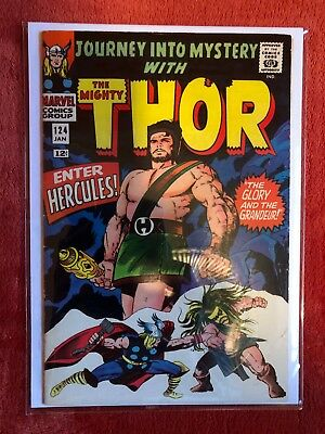 JOURNEY INTO MYSTERY #124 Silver Age Marvel Comic Thor Hercules Lee Kirby 1965
