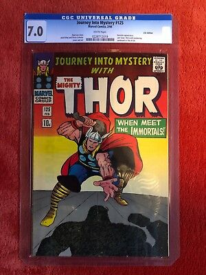 JOURNEY INTO MYSTERY #125 CGC 7.0 Soft Case Silver Age Marvel Comic Thor Kirby