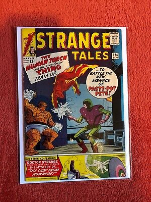 STRANGE TALES #124 Marvel Silver Age Comic 1964 Human Torch Thing Team Up