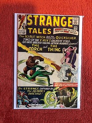 STRANGE TALES #128 Marvel Silver Age Comic Scarlet Witch Quicksilver 1965