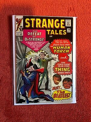 STRANGE TALES #130 Silver Age Marvel Comics The Thing Meet the Beatles 1965