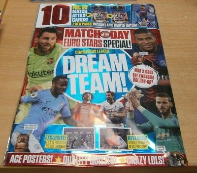 Match of the Day magazine Champions League Special Euro Stars Dream Team + Cards