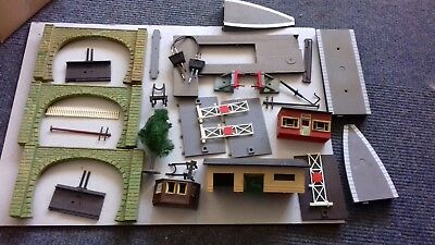Collection of OO Gauge Ex Layout Railway Track / Lineside & Scenery For Spares