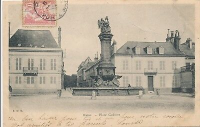 CPA - France - (51) Marne - Reims - Place Godinot