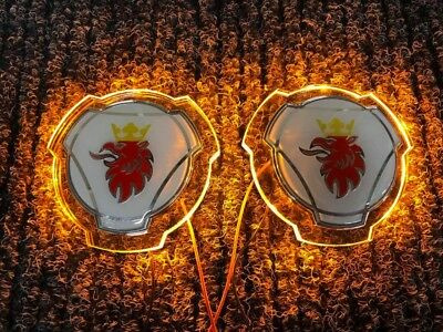 Scania emblems in Paar / LED Beleuchtung / LKW LED