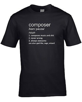 Composer Definition Mens T-Shirt Music Gift Idea Work Job Player Orchestra Cool