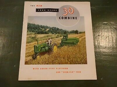 John Deere 30 Combine Sales Booklet With Center Fold 30 Pages In Color