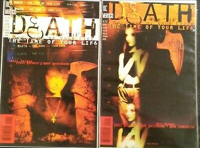 Death The Time of Your Life issues 1 and 2 (DC, Vertigo) VF+ 1st Printing