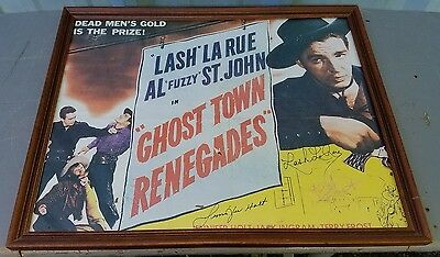 Ghost Town Renegades 1947 Original Movie Poster Action Comedy Western Signed!