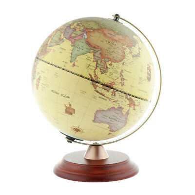 World Map Blue Ocean Earth Rotating LED Illuminated Globe Table Decor Globes