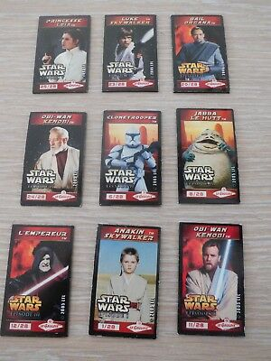 Lot 9 Magnets Star Wars Occasion Le Gaulois Collection