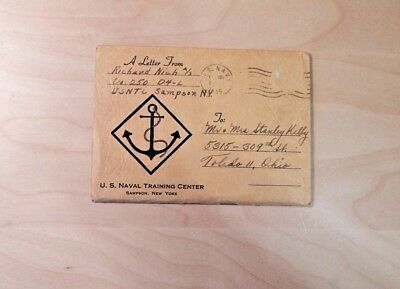 "1945 ~ ""a Letter From U.s. Naval Training Station"", Sampson, Ny ~ Booklet"