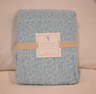 Pottery Barn Kids Blue Jacqueline Ruched Ditsy Floral Voile Twin Duvet Cover New