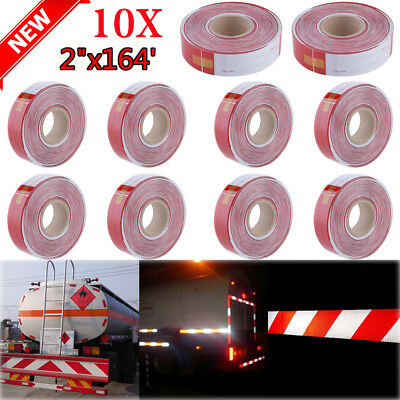 """10PCS 2""""x164' DOT-C2 Reflective Safety Warning Conspicuity Tape Honeycomb Truck"""