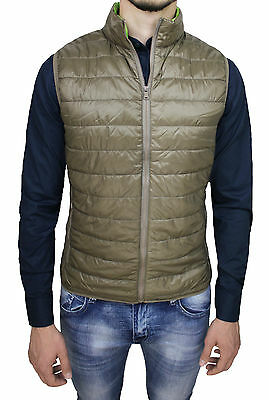 JACKET MENS QUILTED SLEEVELESS VEST BEIGE SLIM FIT CASUAL size S M L XL XXL
