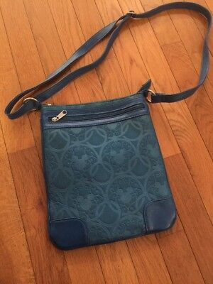 Disney Parks Mickey Ears Turquoise Crossbody Purse Bag Excellent Condition