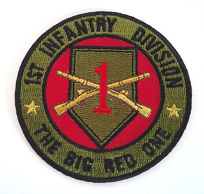 1ST INFANTRY DIVISION THE BIG RED ONE  Military Veteran US ARMY Patch P5120  E