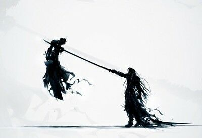 Final Fantasy Vii - Cloud & Sephiroth Poster Print - Wall Art - Buy 2 Get 1 Free