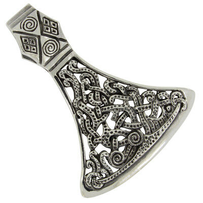 Axe large pendant vikings celtics jewelry 925 sterling silver b662