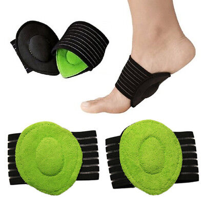 2Pc Unisex Foot Heel Pain Relief Insole Pads Arch Support Shoes Insert Shoe Care