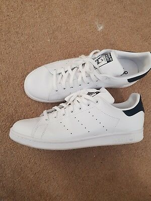 New adidas Originals Mens Stan Smith Trainers White Blue size 10