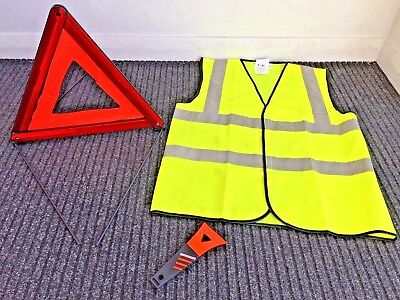 HONDA Warning Triangle with FREE High Vis Vest & Ice Scraper! FREE POSTAGE!