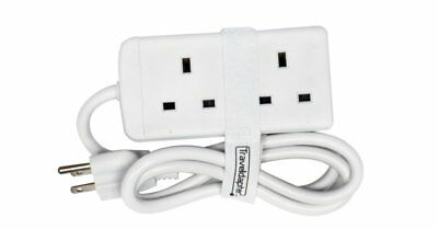 Travel Adapter PHILIPINES Power Plug Strip Multi Safe Extension Lead 2 Inputs...