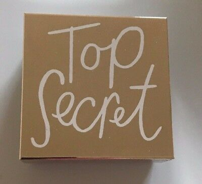 "New Kate Spade New York All that Glistens ""Top Secret"" Silver Plated Jewelry Box"