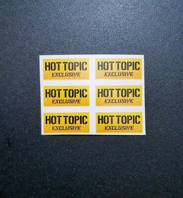 New Pop Yellow Hot Topic Exclusive High Quality Replacement Sticker 6 Pack Lot