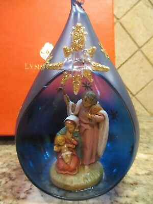 Lynn Chase Christmas Nativity Ornament