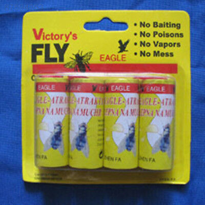 A2E5 4pc Flying Catcher Strip Mosquitos 4X Flying Paper