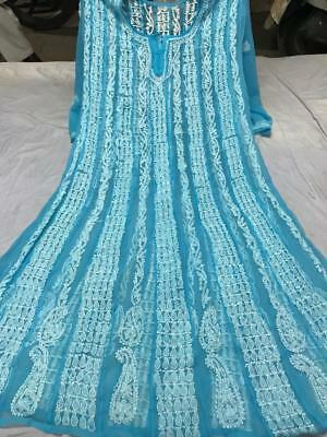 Indian Chikankari Embroidery Kurti Anarkali Pakistani Kurta Women ethnic wear