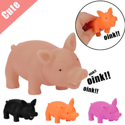 8CM Cute Shrilling Pig Squeaky Rubber Pig Toy Relax Toy Squeeze Realistic Toy UK