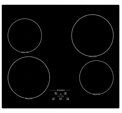Stoves SIH600TC 59cm 4 Burners Induction Hob Touch Control Black