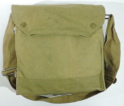 WWII British Mark VII Gas Mask Bag, 1942, Indiana Jones Satchel
