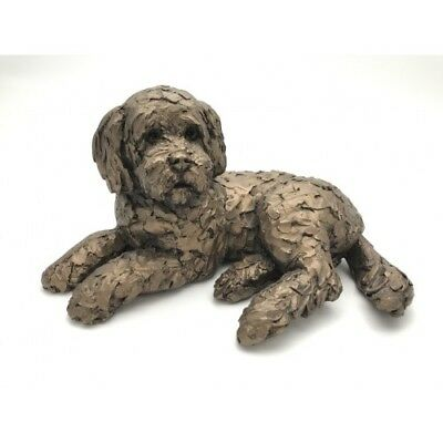 Ozzy Cockapoo Dog - Frith Sculptures by Adrian Tinsley Cold Cast Bronze AT035