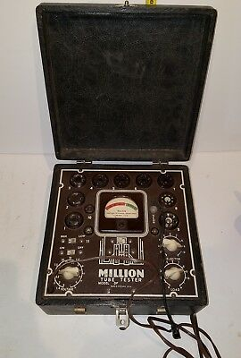Vintage Antique MILLION Tube Tester Model DF Very Good Condition
