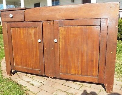 Primitive Dry Sink Cabinet Rustic Antique cupboard with drawer