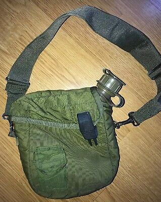 US Military 2 Quart Collapsible Canteen 2QT NBC CAP Cover Pouch Strap USGI USED