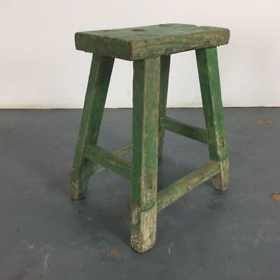 VINTAGE RUSTIC ANTIQUE WOODEN STOOL MILKING EXTRA LARGE No L231