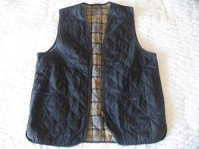 Barbour Mens Quilted Gilet, Navy Blue, Size 44