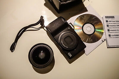 Ricoh GR II full set pack 16.2MP Digital Camera, wide angle conversion lense