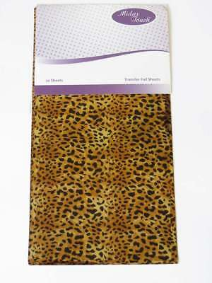 Midas Touch - 2 x 20 Gold Foil Transfer Sheets Leopard / Animal card craft
