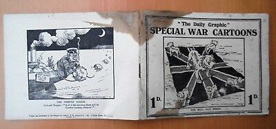 ANTIQUE World War One THE DAILY GRAPHIC SPECIAL CARTOONS pb/1st?/c1914