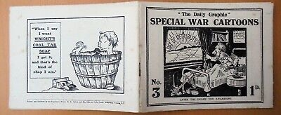 ANTIQUE World War One THE DAILY GRAPHIC SPECIAL CARTOONS No. 3  pb