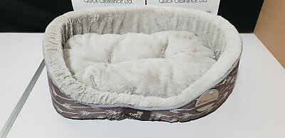 All Pet Solutions Bella Collection Warm Luxury Dog Bed with Reversible Cushion