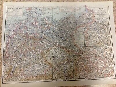 Vintage 1911 Encyclopedia Maps For France, Germany, England Amd Wales