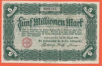Germany - Fallingbostel - 5 Millionen Mark - 1923 - Emergency Note