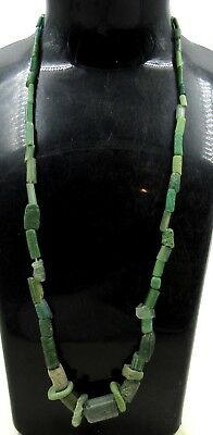 Authentic Ancient Roman Era Glass Beaded Necklace - J102