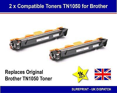 2 X Toner Cartridge for Brother TN1050 DCP1510 DCP-1512 HL-1110 HL-1112 MFC1810